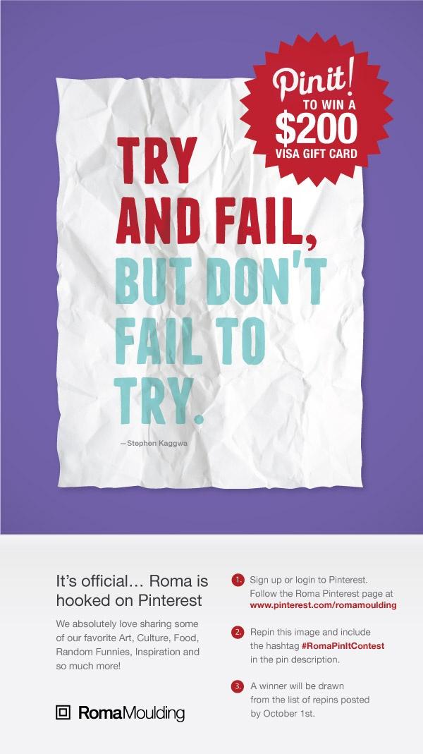 #RomaPinItContest contest win fail quote