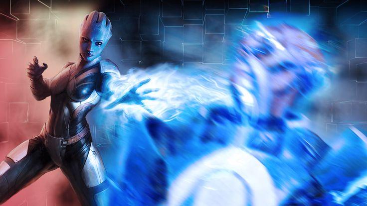 Liara Mass Effect Shepard T Soni D Graphics Games