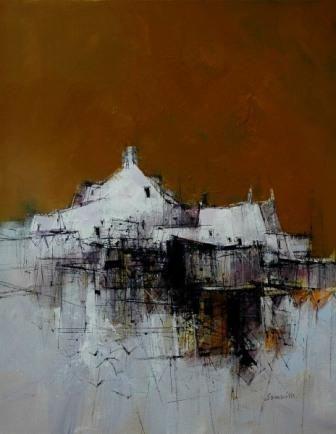 Scottish Artist James SOMERVILLE - Orange Sky
