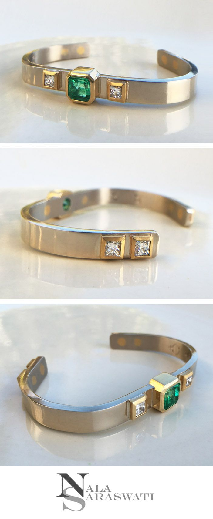 47 best esoteric couture images on pinterest astrology chart custom handmade 18k white gold bracelet with 22k yellow gold bezels there are six fine astrology chartvedic nvjuhfo Choice Image