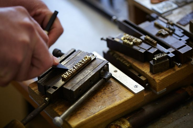 Embossing in the Asprey Leather Workshop