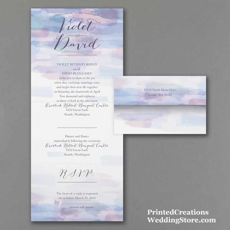 64 best seal n send wedding invitations images on pinterest soft watercolor seal n send wedding invitation beautiful pastel watercolors accent this artistic and filmwisefo
