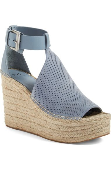 Marc Fisher LTD Annie Perforated Espadrille Platform Wedge (Women) available at #Nordstrom