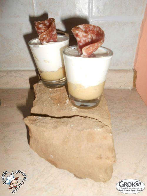 GROKSÌ! è lo snack di formaggio cotto al forno e non fritto….un'esplosione di gusto! Grazie a questa splendida collaborazione ho potuto scoprire questo salutare e gustoso snack! Oggi andrò a preparare delle mini cheesecake in bicchiere: ottimo finger food per ogni occasione!
