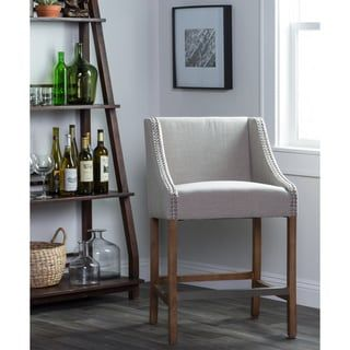 Shop For Aoki Upholstered Beige 24 Inch Counter Stool By Kosas Home
