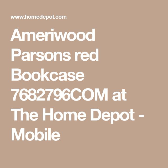 Ameriwood Parsons red Bookcase 7682796COM at The Home Depot - Mobile