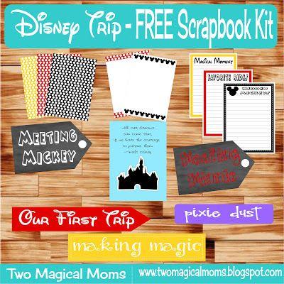Two Magical Moms: Disney Trip- FREE Digital Scrapbook Kit