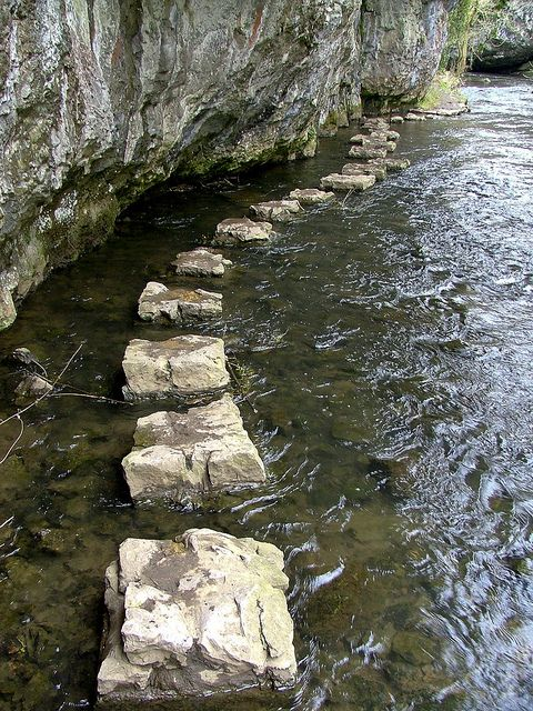 Chee Dale Stepping Stones by Tideswellman, via Flickr
