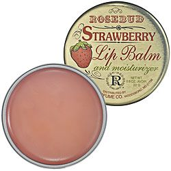 I kept reading how celebrities swear by Rosebud salve. Well, they're right! I haven't tried the original but love, love, love the Strawberry lip balm. It tastes yummy, and unlike other lip balms, never leaves your lips feeling waxy or having those unsightly dry bits on your lips. My husband loves the taste when we kiss too. :) It's inexpensive at $5.00 a pop and last forever. I also use it as cuticle balm, spot moisturizer, and to tame unruly brows in a jam.