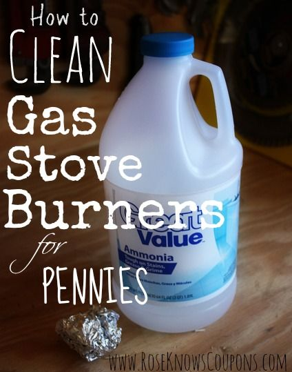 How to clean your gas stove burners for just pennies! Elbow grease not required!