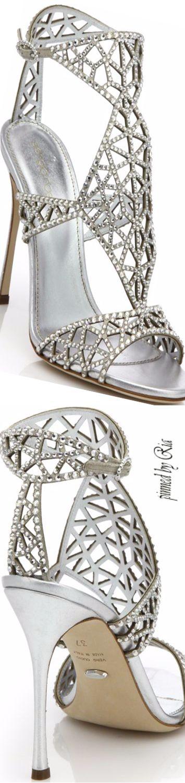 Sergio Rossi Tresor Swarovski Crystal Sandal l Ria