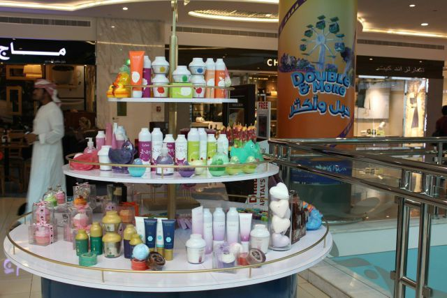 cupcakes soaps, bath blasters, day creams, shampoos and anti serums are among our stand at Mushrif Mall Abu Dhabi to celebrate #IWD2015