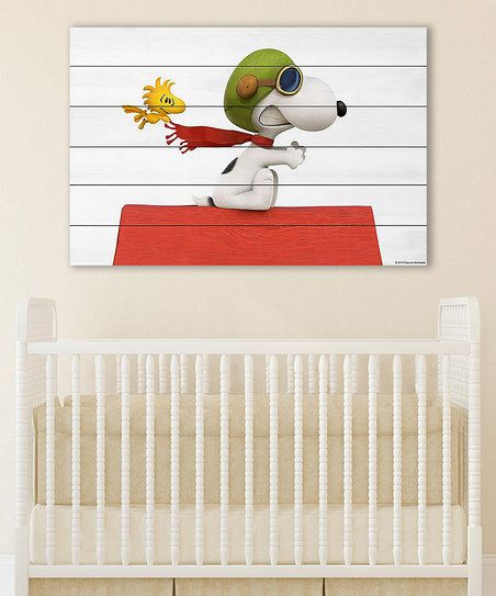 Peanuts by Charles Schulz Peanuts Snoopy Flying Wall Art | zulily