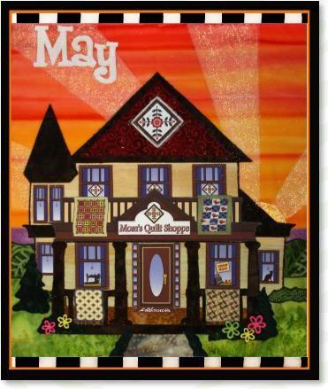 MayHoliday Houseappliqué quilt patterns designed by Debra Gabel Of Zebra Patterns.com# quilting #appliqué