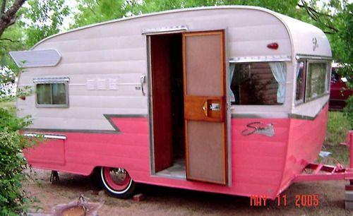 GET ONE:  VINTAGE SHASTA CAMPERS   ... camper vintage trailer glamping pink trailer pink camper pink shasta