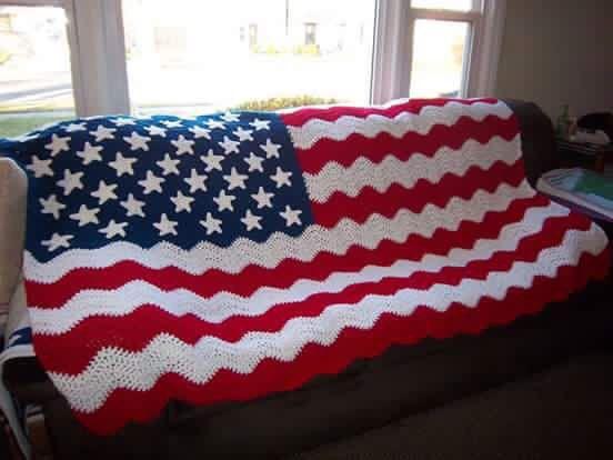 Crochet Pattern For Usa Flag : American Flag blanket Crochet Pinterest Flags ...