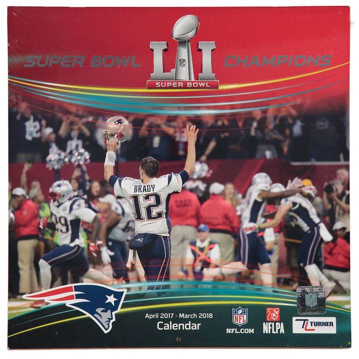 New England Patriots Super Bowl LI Champions 12'' x 12'' Wall Calendar