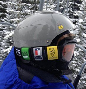 Give these as gifts to your snowboarder or skier. They look great on the ski and snowboard goggles as well as backpacks, bags, and bicycles!