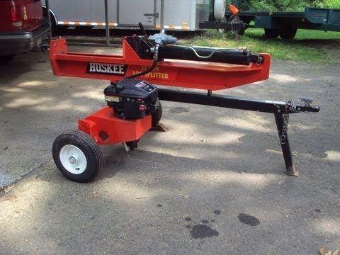 Huskee 22 Ton Log Splitter In Action
