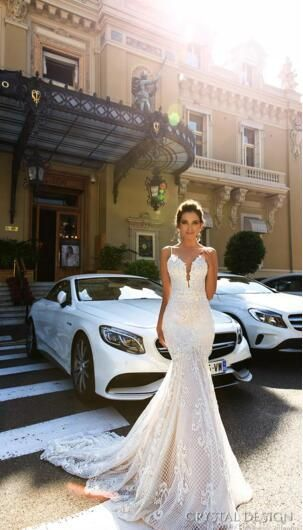 Luxury 2017 Full Lace Mermaid Wedding Dresses Spaghetti Straps Sexy Backlesss Applique Court Train Wedding Bridal Gowns Custom Made Grecian Style Wedding Dresses Inexpensive Bridal Gowns From Beautydesign, $189.44| DHgate.Com