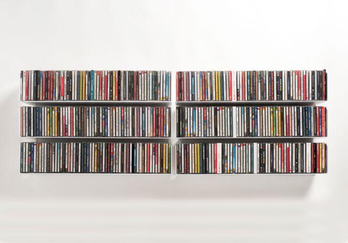 Étagère range CD UCD - Lot de 6