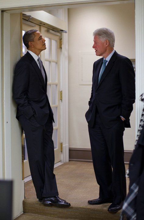 President Obama & Former President Clinton (Via Facebook - President Barack Obama's Historical Presidency Profile Page)