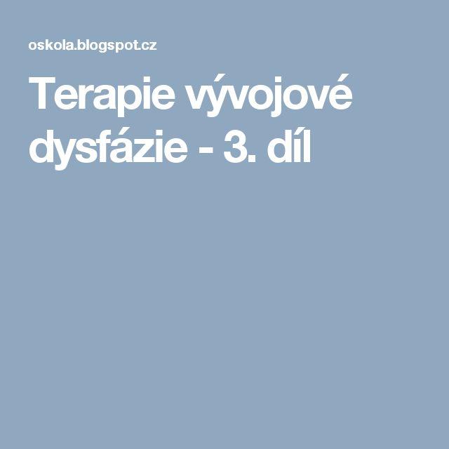 Terapie vývojové dysfázie - 3. díl