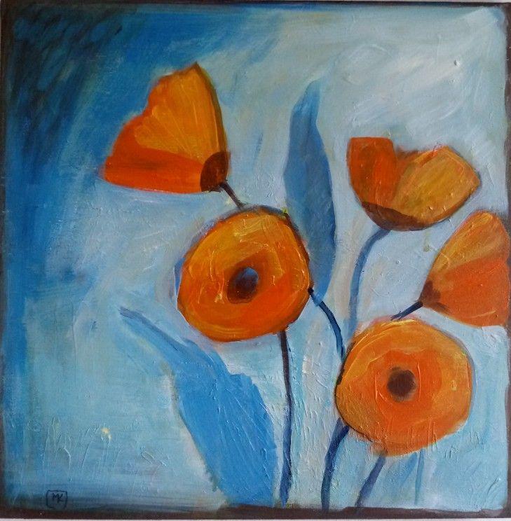 #kobus#malgo#abstrac#painting#acrylic#malarstwo#poppies