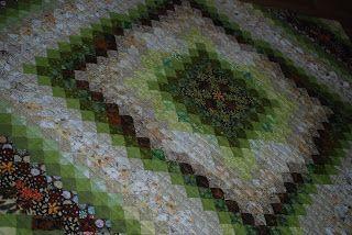 Штучки и штуковины: Зеленое лоскутное одеяло
