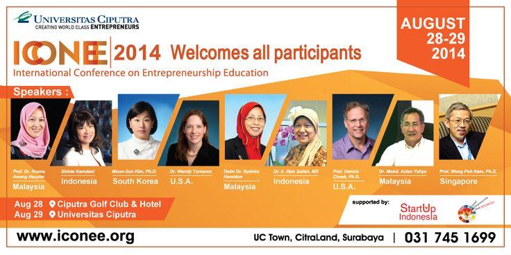 ICONEE 2014 - International Conference on Entrepreneurship Education, 28-29 August
