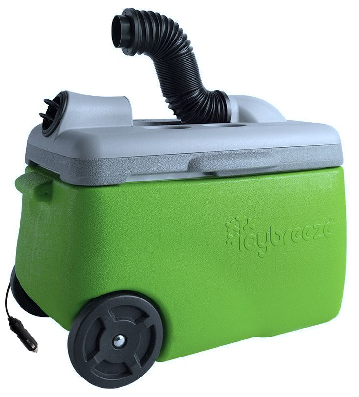 Portable Air Conditioner & Cooler 12V Chill cooler. Directional flexi-hose blows the breeze exactly where you want it. -Ergonomic handle and multiple lift points make transportation easy. -Large wheels roll over a variety of terrains.