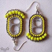 Idea para Pendientes con anillas de latas y abalorios