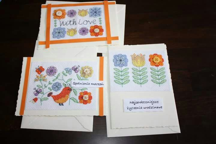 Cross-stitch cards & buttons