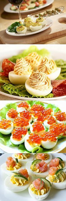 Фаршированные яйца - рецепты закуски с фото / Простые рецепты