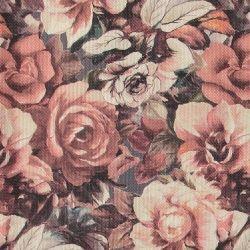 Møbelstruktur m store rosa roser