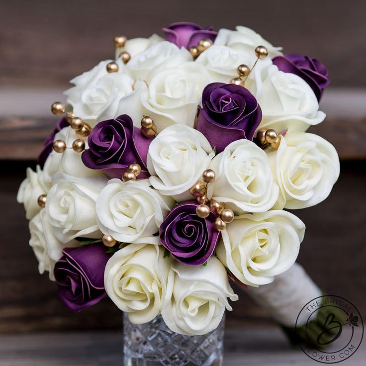 Purple Wedding Bouquet Gold Bridal And