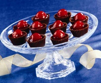 Cherry Chocolate Cordial Cups to make the next time we have a party: Recipe