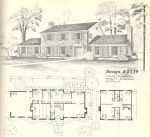 76 vintage house plans georgian - Vintage Farmhouse Plans