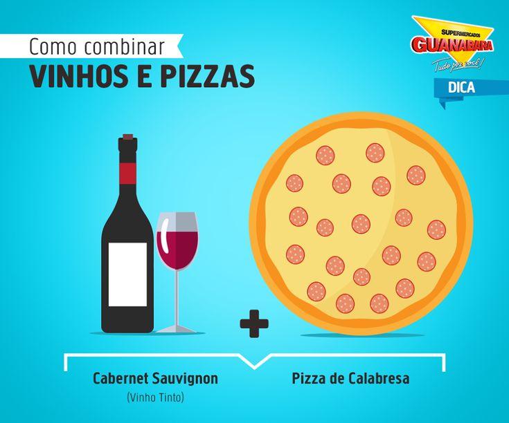 Cabernet Sauvignon + Pizza de Calabresa — Supermercados Guanabara