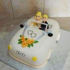 Svatební - v autě