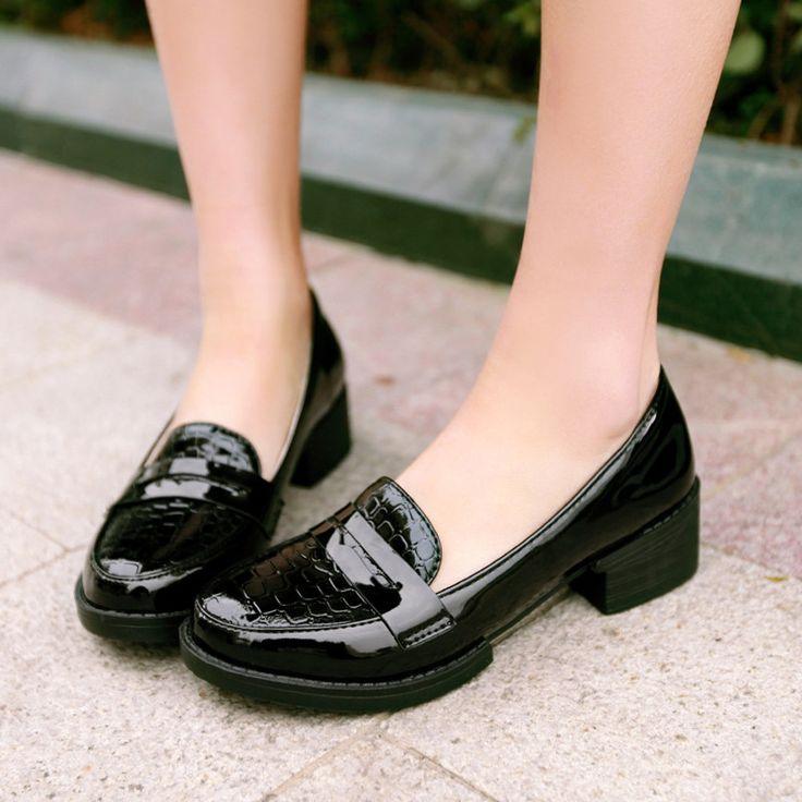 Crocodile Pattern Women Pumps High Heels Shoes 5696