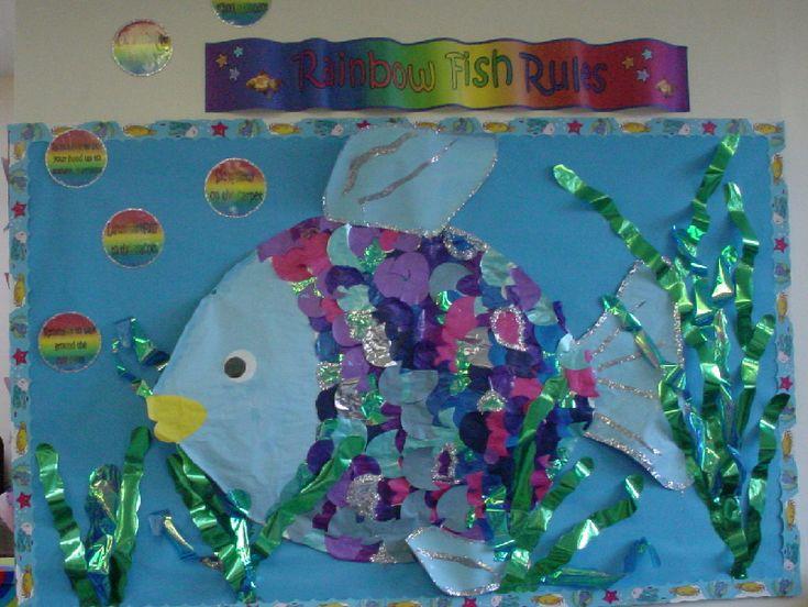 Rainbow Fish Rules classroom display photo - Photo gallery - SparkleBox