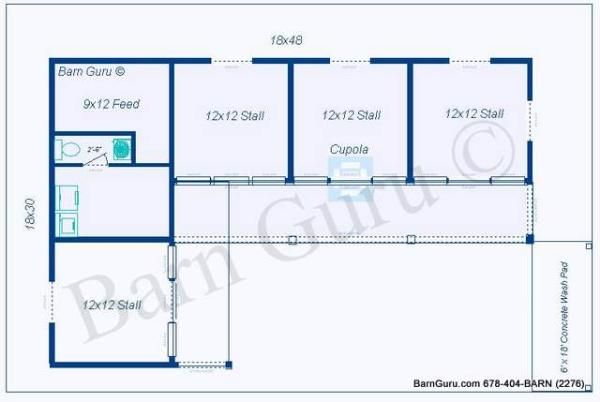 3 stall horse barn plan tack room and barns pinterest for 1 stall horse barn plans