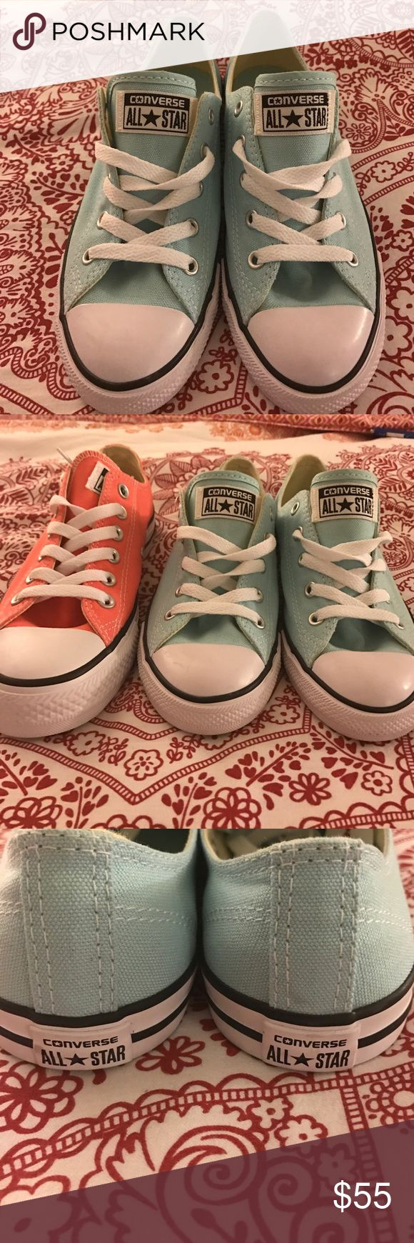 Converse All ⭐️ Star 😍 Chic light turquoise Converse All ⭐️ star . Thin sole , super cute and a must have for spring and summer 😃😍😎. Size 7 woman, New with no box. Converse Shoes Sneakers