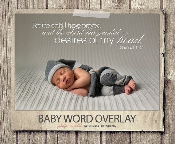 word overlay - baby newborn phrase photo overlay