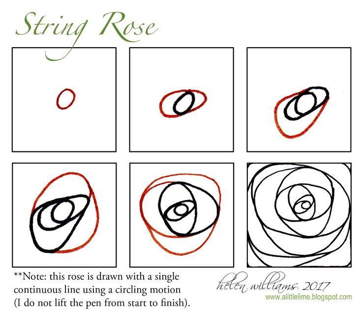 String rose tangle + video