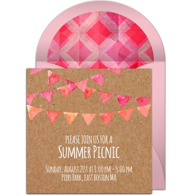 Love this free summer picnic invitation! A wonderful, casual picnic online invitation you can personalize and send via email.