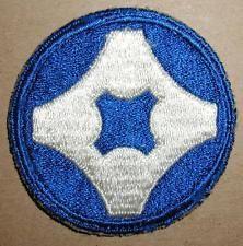 WW2 ERA US ARMY FOURTH SERVICE COMMAND INSIGNIA PATCH