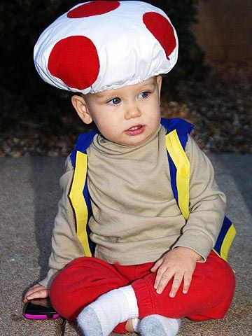 Why we love it: Because this Nintendo throwback character brings Super Mario back to life.                 Do it yourself: Add some red felt circles to a simple shower cap and stuff it with cotton or anything soft and fluffy before putting it on your child's head.