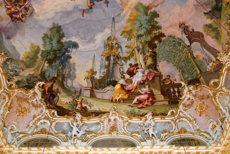 Munich, ceiling fresco in the Stone Hall at Nymphenburg Palace